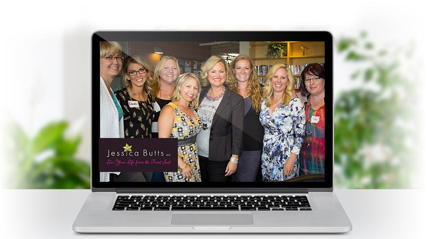 Jessica Butts Private Forum on a laptop